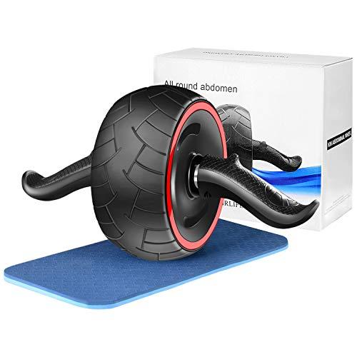 Bauchroller, Cyiecw Ab Wheel Roller mit Kniematte, für Fitness, Bauchmuskeltraining, Muskelaufbau, Muskeltrainer, Training zu Hause