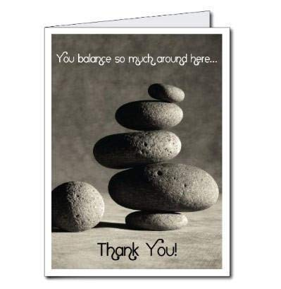 VictoryStore Jumbo Greeting Cards: Giant Thank You Card (Rocks), 2' x 3' Card with Envelope