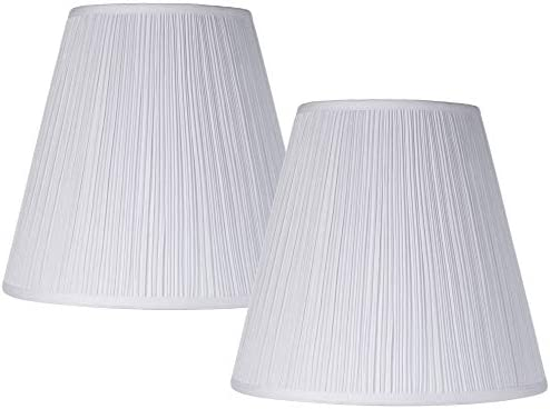 Set of 2 Mushroom Pleated Shades 9x16x14 5 Spider Brentwood product image