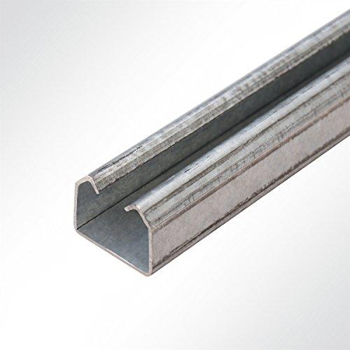 LYSEL® Laufschiene verzinkt 25x19x2000 mm Schiebetor Schiebetür Hallentor
