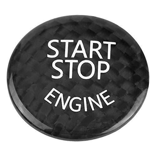 Duokon Couvercle du Bouton D'arrêt de Démarrage de voiture,Bouton de Démarrage du Moteur pour Châssis noir, fibre de carbone