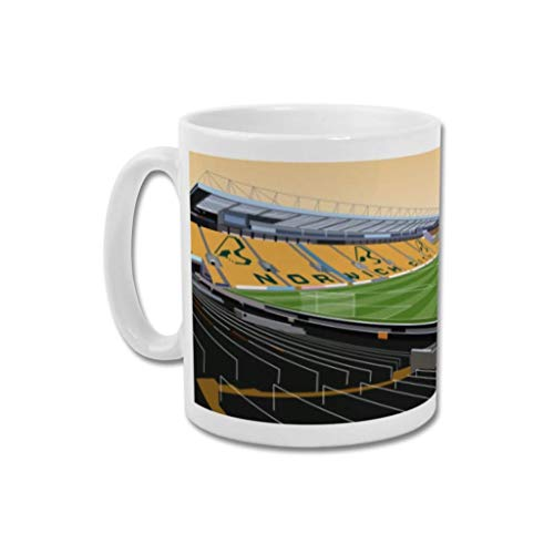 Norwich City FC'Carrow Road' - Home.Ground.Mugs English Premier League Football Stadium Graphic Mug Gift Collection NCFC