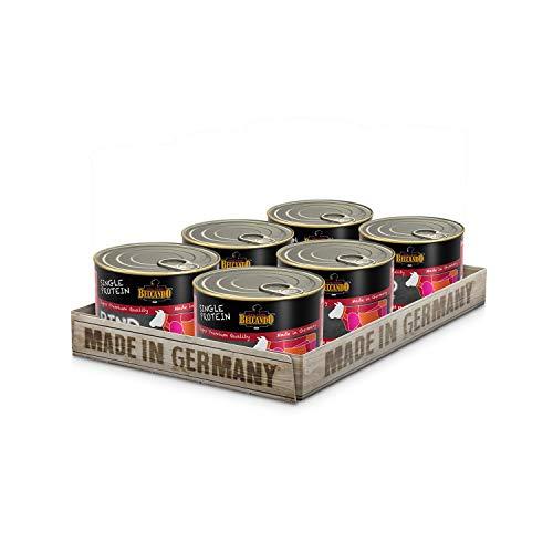Belcando Single Protein Dose [6x200g Rind]   Sortenreines Nassfutter für Hunde   Monoprotein Feuchtfutter