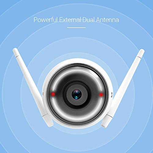 EZVIZ Outdoor Security Camera WiFi Surveillance, 30m Night Vision, Light & Siren Alarm with Motion Detection, Waterproof, Two Way Audio, Remote Viewing,Works with Alexa and Google Assistant(CTQ3W)