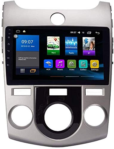 AEBDF Android 10 GPS Navegación para KIA Forte 2009-2017 MT, Pantalla táctil estéreo de 2.5D, teléfono de Reproductor Multimedia estéreo Sat Stereo
