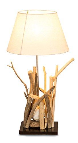 *levandeo Tischlampe Treibholz 35x35cm 65cm hoch Unikat Lampe Holz*