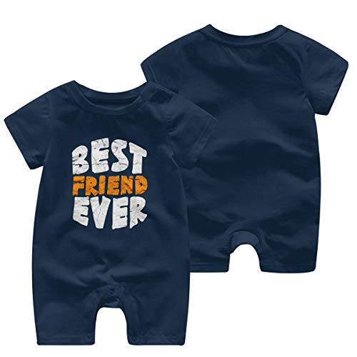 Happiness Station Best Friend - Best Friend Ever Baby Playsuit Outfits Infant Boys Girls Rompers 0-24 Months Baby Jumpsuit Clothes Kids Playsuits Toddlers Short Sleeve Outfits