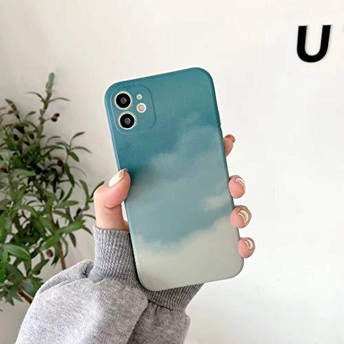 Jacyren Funda para iPhone 12 Pro Max, funda para iPhone 12 Pro Max, funda protectora ultrafina de silicona TPU suave, carcasa de protección completa para iPhone 12 Pro Max (iPhone 12 Pro Max, azul)