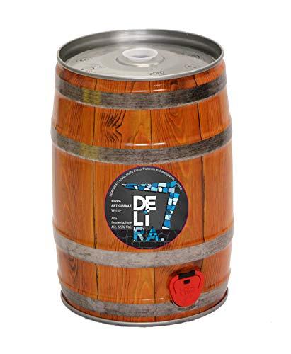 Birra Artigianale Cruda Italiana DELìRA Weiss - Fusto 5 Litri - Prodotta da I.C.B. Italian Craft Brewery (1)