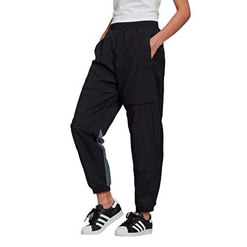 adidas Adicolor Sliced Trefoil Japona Pantalones de Senderismo, Óxido Negro y Azul, 48 para Mujer