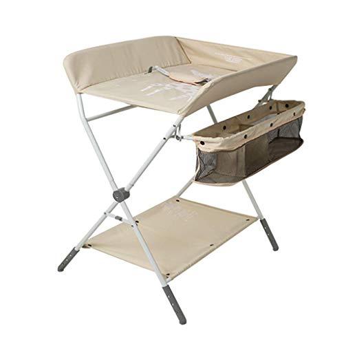 N/Z Living Equipment Table Mesa de bebé portátil con Almacenamiento Estación de pañales Plegable para bebés Toler Tocador de guardería Estilo de Patas Cruzadas (Color: Negro)