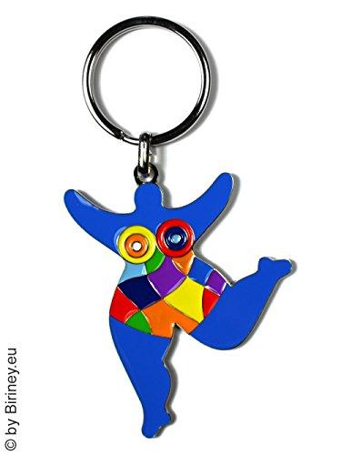 bunter Schlüsselanhänger mit NANA-Figur! Hommage an Niki de Saint Phalle by Biriney Nana-Skulptur