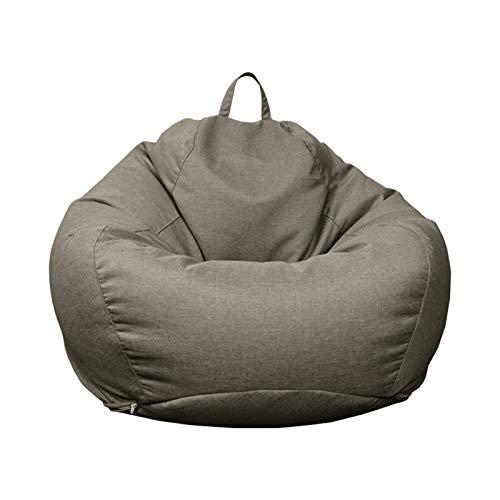 LDIW Copri Bean Bag Pouf Cover, Tinta Unita Copertura per Poltrona A Sacco Fodera da Poltrona a Sacco, Senza riempimento, per Bambini Adolescenti e Adulti,Dark Gray,XXL