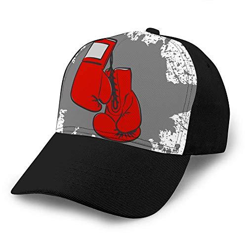 Unisex Baseball Cap Trucker Hut Erwachsene Cowboy Hut Hip Hop Snapback rot Boxhandschuhe Trucker Hüte