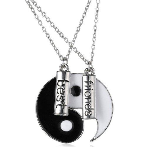 Gemini_mall® BBF Best Friends Necklaces Friendship Love Gift Tai Chi Yin...