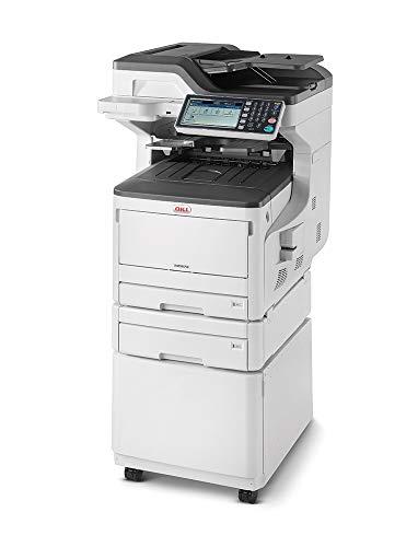 Oki MC873dnct Stampante Multifunzione 4 in 1, a colori, A3, fronte retro, 35 pagine al minuto, con mobiletto, 2° cassetto e software gestione documentale