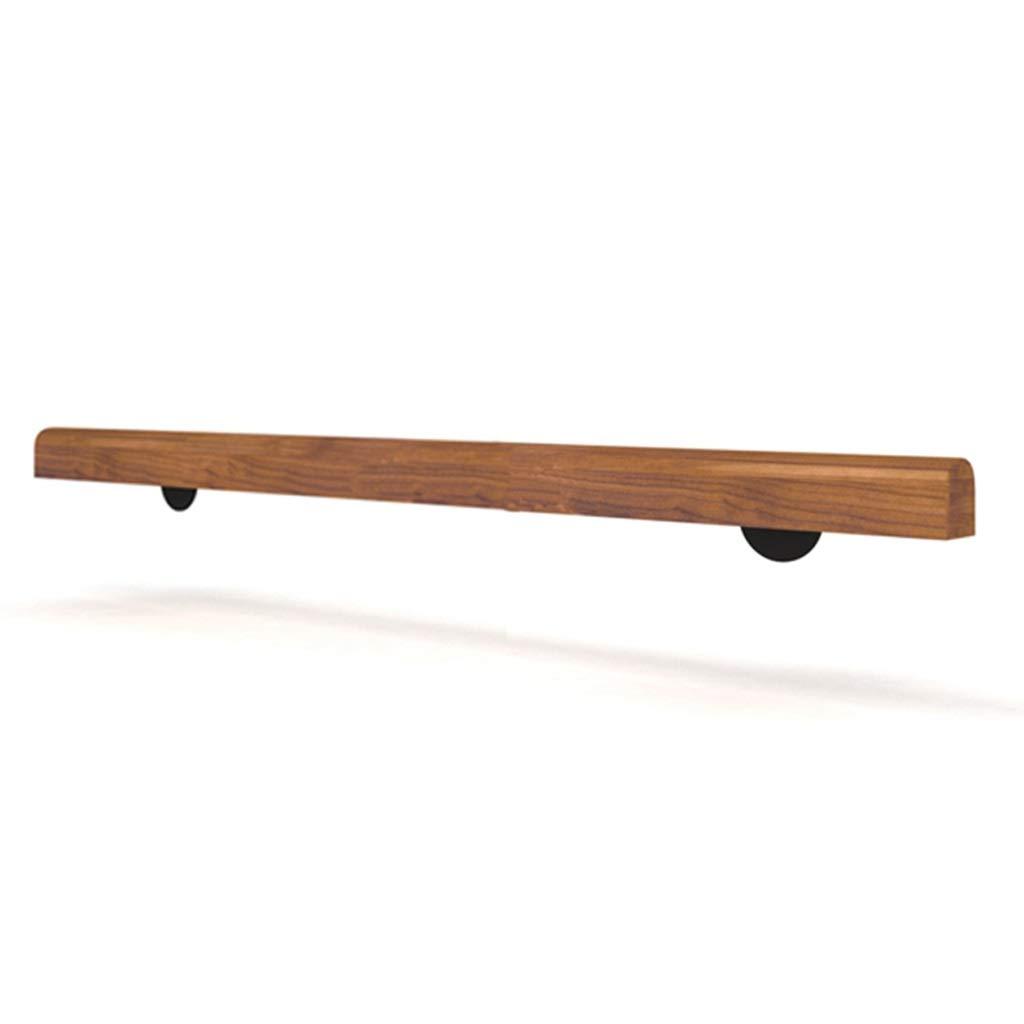 Barandilla de madera montada en la pared de las escaleras de la barandilla con los soportes