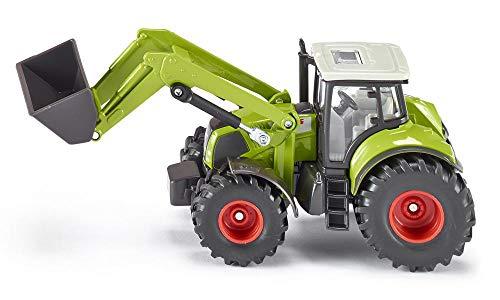 SIKU 1979, Claas Axion 850 Traktor mit Frontlader, 1:50, Metall/Kunststoff, Grün, Bewegliche Schaufel, Heckkupplung, Kombinierbar mit SIKU Anhängern im gleichen Maßstab