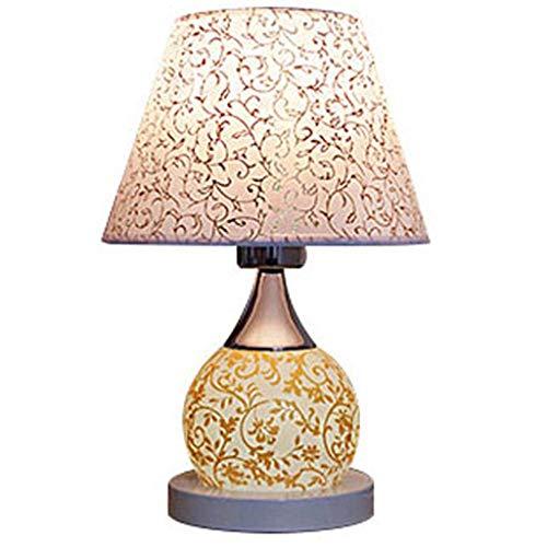 liushop Lámpara Escritorio LED lámpara de cabecera Inicio lámpara de Mesa de Boda Dormitorio Interruptor de botón Lampara de Lectura