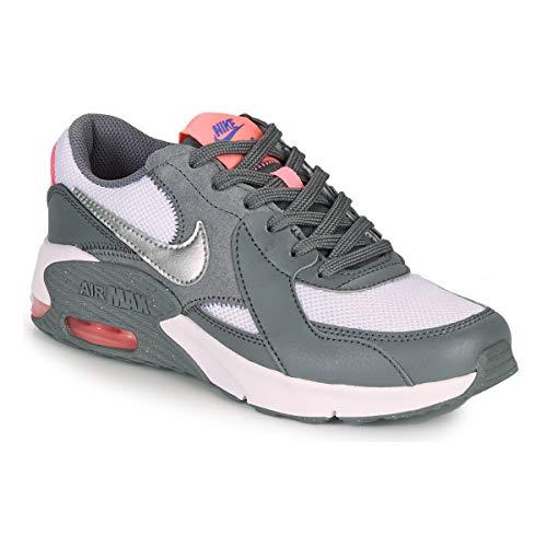 Nike Air MAX Excee (GS), Zapatillas, Gris Ahumado, Plateado metálico, 36.5 EU