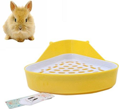 Mkono Potty Trainer Corner Litter Box for Hamster Guinea Pig Ferret Gerbil Rats (Random Color)