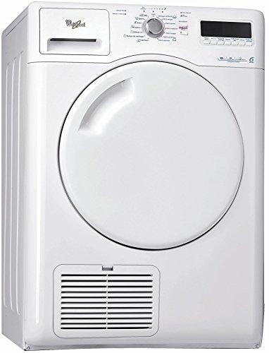 Whirlpool AZA 8310 Sèche Linge Condensation 8 kilograms Départ Différé, sonde électronique, Affichage du Temps Restant, Ecran LCD,...