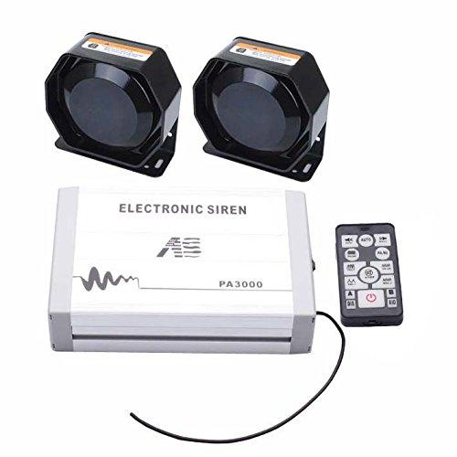 AS PA3000E-SPK0022 Kit sirène pour véhicule avec haut-parleur sans fil 20 sonorités 12 V