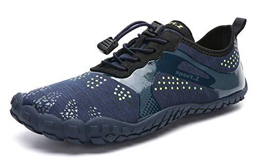 Unisex-Adulto Zapatos de Agua Zapatos de Playa Escarpines de Surf Zapatillas de Agua Barefoot Deporte Secado Rápido Yoga Aire Libre Azul 37EU