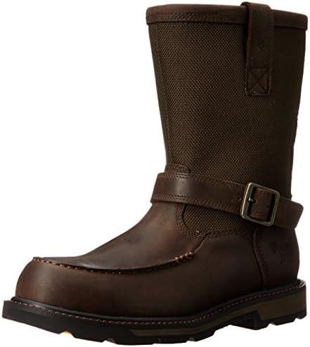 Ariat Men s Groundbreaker Moccasin H2O Steel Toe Work Boot Dark Brown Dark Olive Cordura 7 D product image