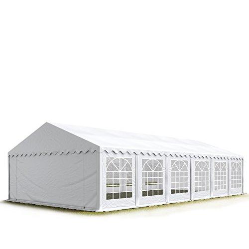 TOOLPORT Carpa para Fiestas Carpa de Fiesta 6x12 m Carpa de pabellón de jardín Aprox. 500g/m² Lona PVC en Blanco Impermeable