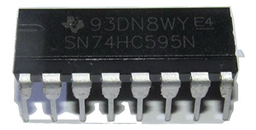 Texas Instruments SN74HC595N 8-Bit Shift Registers With 3-State Output Registers , Plastic DIP Tube, 19.3 mm L x 6.35 mm W x 4.57 mm H (Pack of 10)