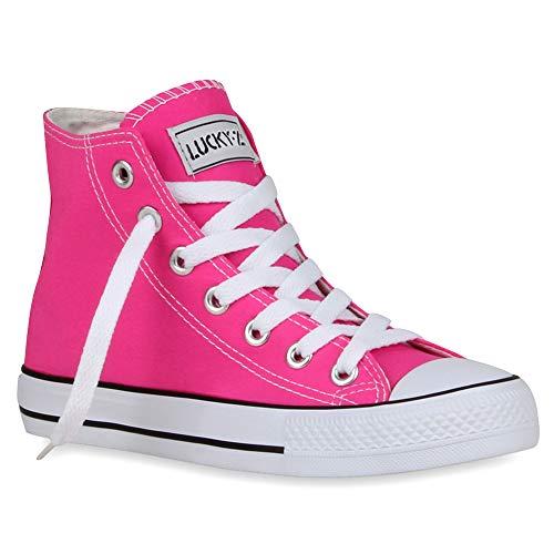Flandell® - Zapatillas altas para mujer, de camuflaje, con purpurina, color Rosa, talla 39 EU