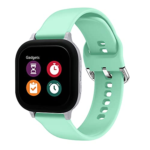 MOONSTAN Compatible with Gizmo Watch 2 Band Replacement for Kids Boys Girls, 20mm Small Size Silicone Sport Accessories for Verizon Gizmo Gadget Watch 1, Green