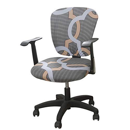 Funda de Silla Impresa Funda de Silla de Oficina separada para Silla giratoria Silla de Ordenador Funda de sillón Lavable Moderno