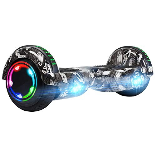 """UNI-SUN Hoverboard for Kids, 6.5"""" Two Wheel Self Balancing Hoverboards with Bluetooth and Lights for Adults, UL 2272 Certified Hover Board, Tires"""