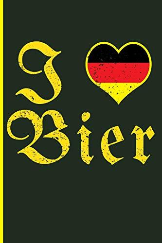 I Love Bier: German Beer Blank Lined Notebook Journal