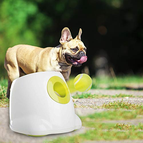 Dog Interactive Toy Automatic Ball Launcher Pet Ball Thrower Dog Auto Fetch Toy with 3 pcs 2.5'' Tennis Ball - Maxi Style