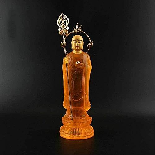 GBX Sammlerfiguren Statuen Ornamente Wohnkultur Ornament Figur Jizo Bodhisattva Harz Buddha Statue Bodhisattva Zarte buddhistische Sammlung