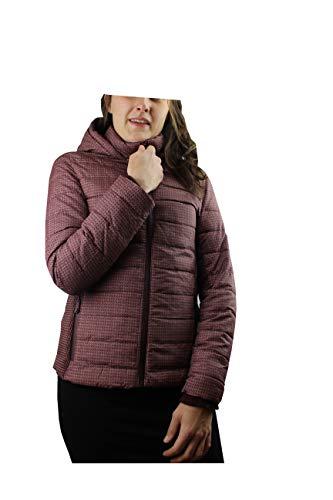 Sublevel Damen Winterjacke mit Kapuze & Stehkragen | Kapuzenjacke | Warme Steppjacke mit geräumigen Taschen (L, dunkelrot)