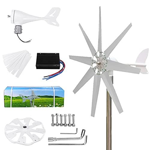 Kit generatore di turbina eolica, 400 W con 5 Pale, Kit generatore Eolico con regolatore di Carica, generatore di energia eolica per Nautica, Camper, casa, Vestito generatore di Mulino a Vento