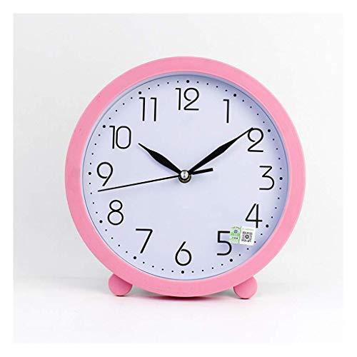 MUMUMI Reloj Despertador, Reloj Nuevo Casa Escritorio Mesa Péndulo Desktop Sala de Estar Creativa Mute Escritorio Colgante Moderno Minimalista Mesa Sentado Amarillo Amarillo 10 Pulgadas Alarma,B