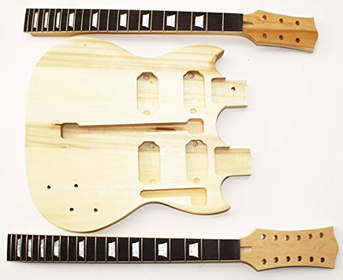 Body und Neck, Gitarrenkörper Gitarrenhals für Double Neck E-Gitarre