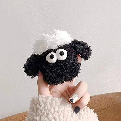 Purchase BONTOUJOUR AirPods Case, Super Cute Creative Funny Plush Stuffed Black Face Sheep AirPods C...