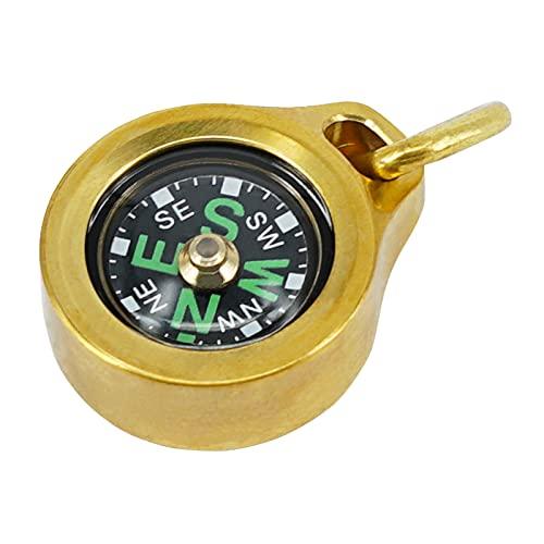 MecArmy CMP Kompass aus Titan/Messing, Überlebens-Kompass in Tropfenform, IPX5, wasserdicht, tragbar, leicht zu erkennen
