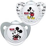 Nuk - Ciuccio in silicone con decorazione Disney, 2 pezzi