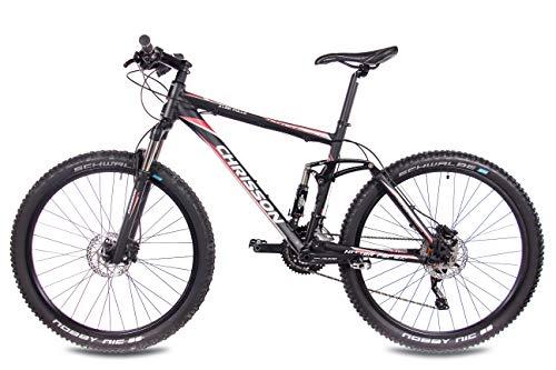 CHRISSON 27,5 Zoll Mountainbike Fully – Hitter FSF schwarz rot – Vollfederung Mountain Bike mit 30 Gang Shimano Deore Kettenschaltung – MTB Fahrrad für Herren und Damen mit Rock Shox Federgabel - 4