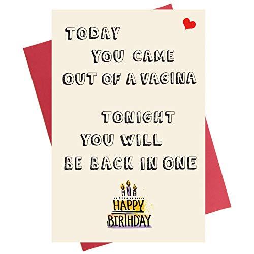 Funny Birthday Card for Him | Birthday Card for Boyfriend | Birthday Card for Husband Fiance