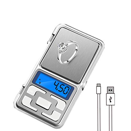 Báscula digital de alimentos, báscula de cocina de 1.1 lb, con unidades de pantalla LCD, báscula de peso de alimentos para cocinar / hornear en g 、 oz 、 tl 、 ct 、 gn para medir ingredientes líquidos