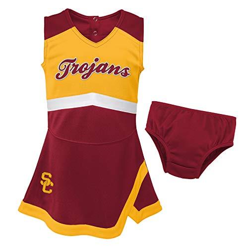 NCAA USC Trojans Girls University of Southern California Cheer Captain Cheerleader Pullover, Kardinal/Gold, 5–6 X