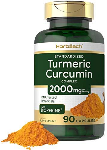 Turmeric Curcumin with Bioperine | 2000 mg 90 Capsules | Non-GMO, Gluten Free Supplement | by Horbaach